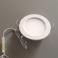 Plafonnier LED 5W 12V-230V encastrable, blanc neutre