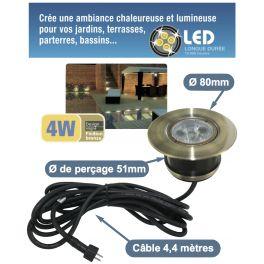 Spot LED 4W à encastrer étanche IP68
