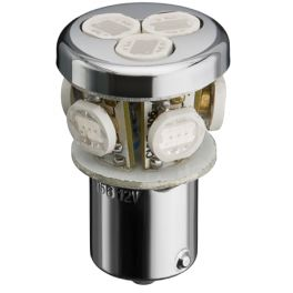 Lampe LED culot BA15S 1W4 12VDC blanc froid