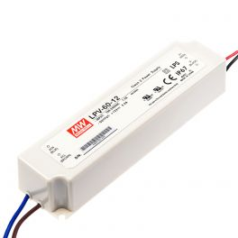Alimentation LED 12V 60W IP67 Entrée 230VAC
