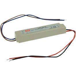 Alimentation LED 12V 18W IP67 Entrée 230VAC