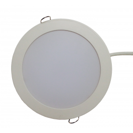 Plafonnier LED 12W 230V encastrable blanc neutre