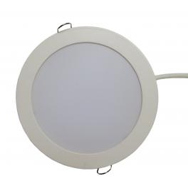 Plafonnier LED 12W 230V encastrable blanc neutre
