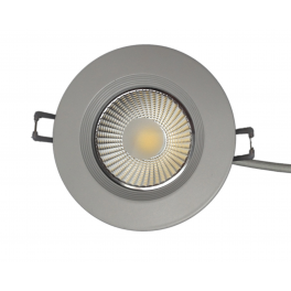 Plafonnier LED 7W 230V encastrable blanc chaud