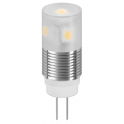 Lampe LED G4 12V 1W6 12VDC blanc chaud diamètre 14 mm