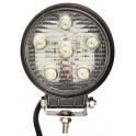 Projecteur LED rond noir 18W extérieur IP67