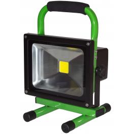 Projecteur LED 20W autonome blanc neutre IP65 extérieur