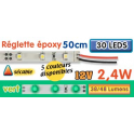 Réglette LED époxy 50 cm 2W4 12V vert