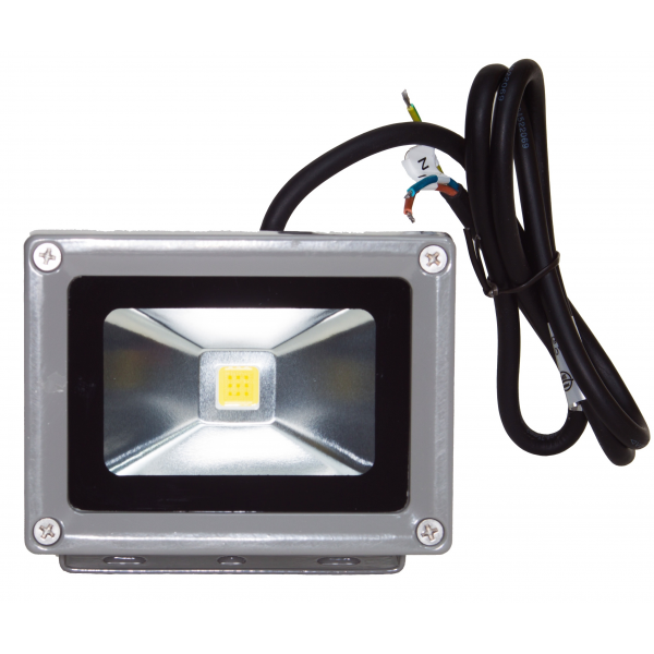 Projecteur led 10w blanc chaud ip65 ext rieur 18 90 for Projecteur garage led
