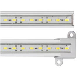 Réglette LED blanc neutre aluminium 144 LED SMD 0,89 m