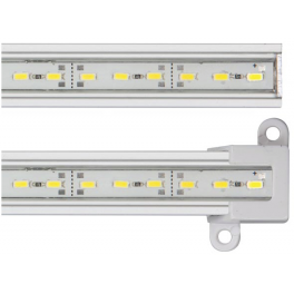 Réglette LED blanc chaud aluminium 144 LED SMD 0,89 m