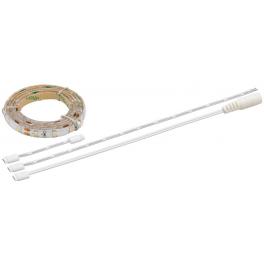 Kit Ruban LED 12V 0,50 m blanc chaud avec câblage