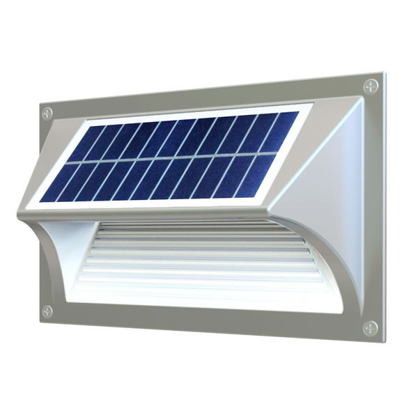 Eclairage solaire led ip64 automatique en aluminium 42 for Eclairage exterieur led