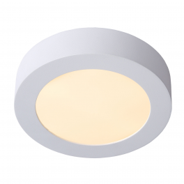 Plafonnier LED rond 12W blanc chaud montage apparent