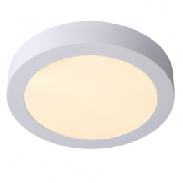 Plafonnier LED rond 18W blanc chaud montage apparent