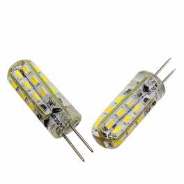 Lampe LED G4 silicone 1W5 12V AC/DC blanc chaud diamètre 9,5 mm