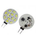 Lampe LED G4 10-30V 2W5 blanc froid diamètre 30 mm