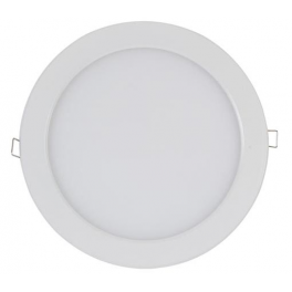 Plafonnier LED 16W 12V-230V encastrable, blanc chaud