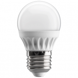 Ampoule LED bulbe douille E27, 4W 230V, blanc chaud
