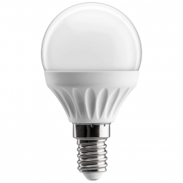 Ampoule LED bulbe douille E14, 4W 230V, blanc chaud