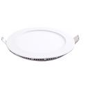 Plafonnier LED 12W 230V ultra fin encastrable blanc chaud