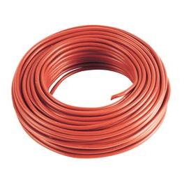 5 m Cable rouge 6mm2 pour cablage des systèmes énergétiques