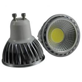 Spot LED GU10 230V COB 5W blanc chaud 90°