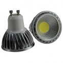 Spot LED GU10 230V COB 5W Dimmable blanc chaud 90°