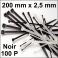 100 Colliers de serrage. Serre-câbles attache-câbles Noir 200 x 2,5 mm