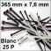 25 Colliers de serrage. Serre-câbles attache-câbles Blanc 365 x 7,6 mm