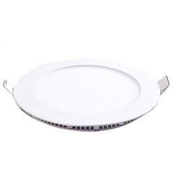 Plafonnier LED rond 6W 12V encastrable blanc chaud