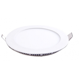 Plafonnier LED rond 12W 12V  encastrable blanc chaud