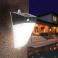 Eclairage solaire à LED IP65 avec IR blanc chaud / blanc froid