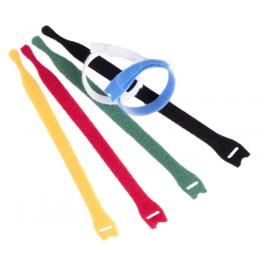 10 Serre-câbles Velcro auto-agrippants 200 mm noir