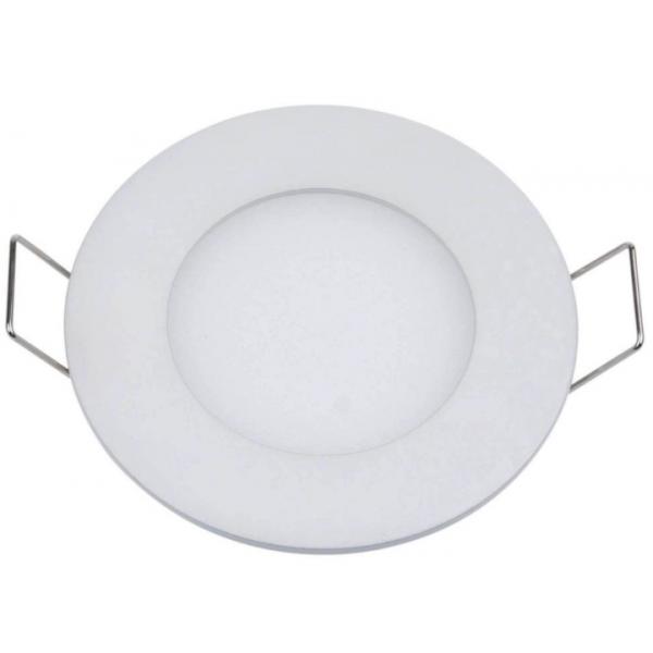 Plafonnier LED 3W 230V encastrable ultra fin teinte blanc