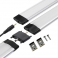 Réglette LED alu 0m50 69 LED SMD blanc neutre cache diffusant