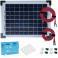 Kit panneau solaire polycristallin 10W 12V av régulateur 5A et accessoires de câblage