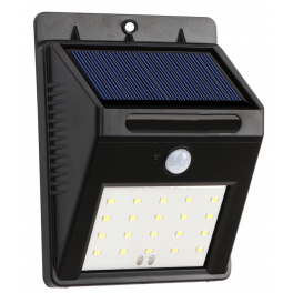 Eclairage solaire 20 LEDS IP64 à détecteur de mouvement