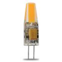 Lampe LED G4 silicone 1W8 COB 12VDC blanc froid diamètre 10 mm