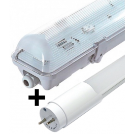 Bloc tube LED 1,20 m 18W blanc neutre étanche IP65