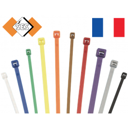 100 Colliers serrage. Serre-câbles attache-câbles Marron 210 x 3,4 mm