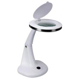 Recondtionné - Lampe-loupe LED de table lentille 95 mm 3 + 12 dioptries (48 LEDS)