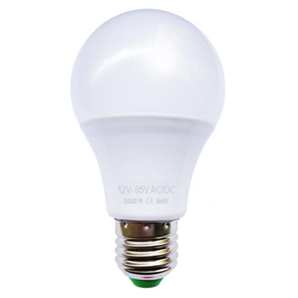 ampoule led bulbe e27 6w 12v 24v ac dc blanc chaud 10 50 produits divers. Black Bedroom Furniture Sets. Home Design Ideas