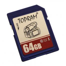 Carte mémoire SDXC, Classe de vitesse UHS1 & C10, Capacité  64Goctets