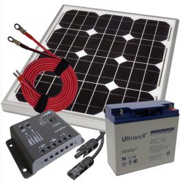 ProPlus kit solaires (panneau + régulateur + câbles et acc.)